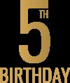 Fifth Birthday Logo